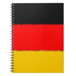 ドイツの旗のノート ノートブック