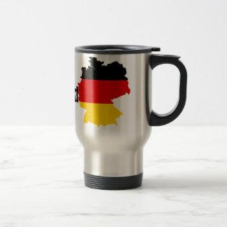 ドイツの旗の地図 トラベルマグ