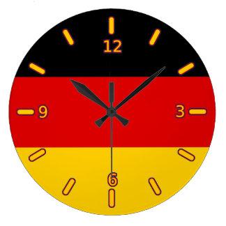 ドイツの旗の時計(数と) ラージ壁時計