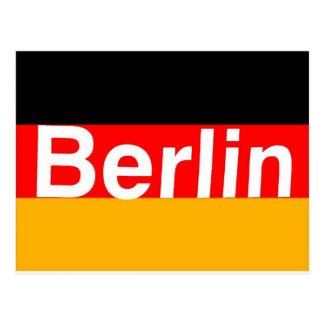 ドイツの旗の白のベルリンのロゴ ポストカード