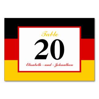 ドイツの旗の結婚式 カード