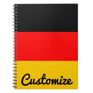 ドイツの旗のDeutsche Flaggeのカスタムのノート ノートブック