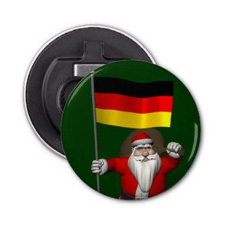 ドイツの旗を持つ愛国心が強いサンタクロース 栓抜き