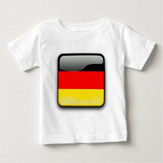 ドイツの旗ボタン ベビーTシャツ