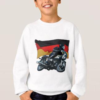 ドイツの旗及びモーターバイクのライダー スウェットシャツ