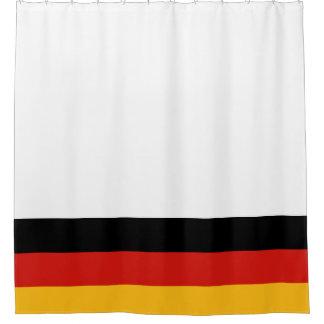 ドイツの旗色 + あなたのアイディア シャワーカーテン