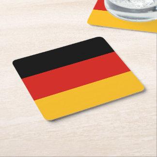 ドイツの旗色 + あなたのアイディア スクエアペーパーコースター