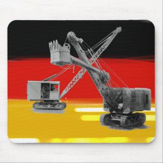 ドイツの旗重い装置クレーンシャベルオペレータ マウスパッド