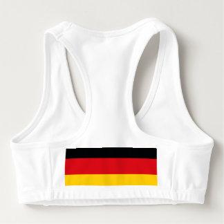 ドイツの旗 スポーツブラ
