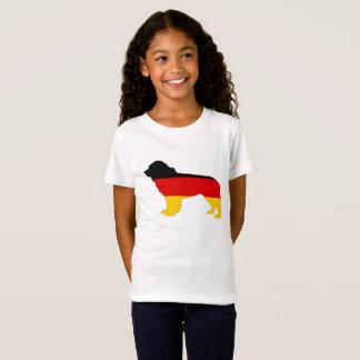 ドイツの旗-ニューファウンドランド犬 Tシャツ