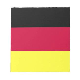 ドイツの旗 ノートパッド