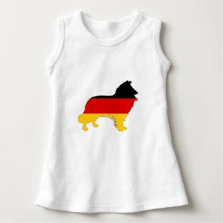 ドイツの旗-ボーダーコリー ドレス