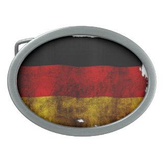 ドイツの旗-ヴィンテージ 卵形バックル