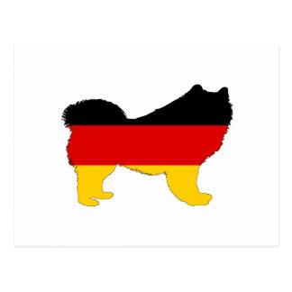 ドイツの旗- Samoyed ポストカード