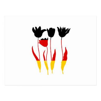 ドイツの旗- Tuilps ポストカード