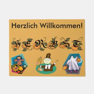 ドイツの秋(秋)のドアマット ドアマット