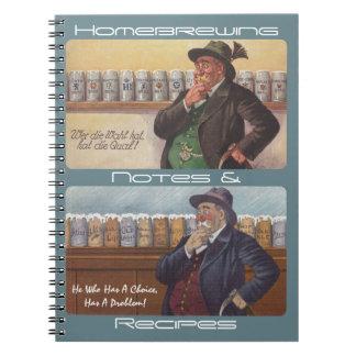 ドイツの諺のノートのHomebrewingのレシピのノート ノートブック