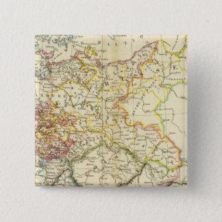 ドイツの連合2 5.1CM 正方形バッジ