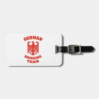 ドイツの飲むチーム ラゲッジタグ