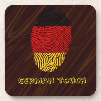 ドイツのtouchの指紋の旗 コースター