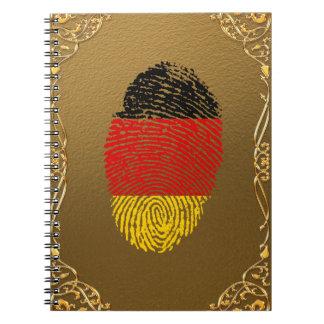 ドイツのtouchの指紋の旗 ノートブック