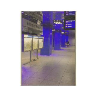 ドイツのU-Bahnの場所 ウッドポスター