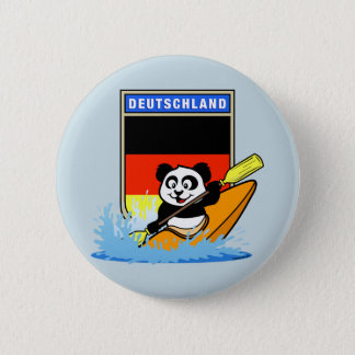 ドイツカヤックを漕ぐパンダ 5.7CM 丸型バッジ