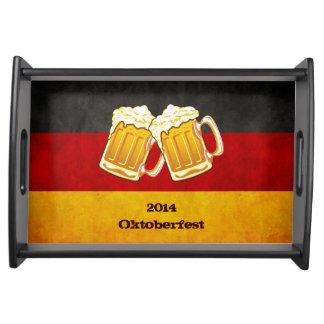 ドイツグランジな旗-オクトーバーフェストビールカスタムの文字 トレー