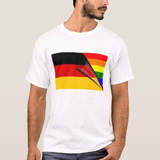 ドイツゲイプライド虹の旗 Tシャツ