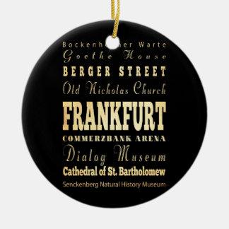 ドイツタイポグラフィの芸術のブランクフルト都市 セラミックオーナメント