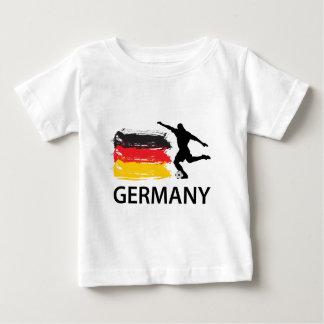 ドイツフットボール ベビーTシャツ