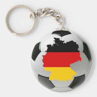 ドイツフットボール ベーシック丸型缶キーホルダー