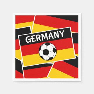 ドイツフラグフットボール スタンダードカクテルナプキン
