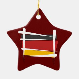 ドイツブラシの旗 セラミックオーナメント