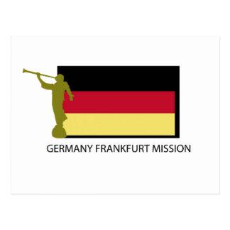 ドイツブランクフルト代表団LDS CTR ポストカード