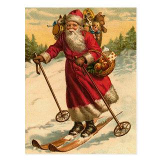 ドイツ人のサンタのクリスマスの郵便はがき ポストカード