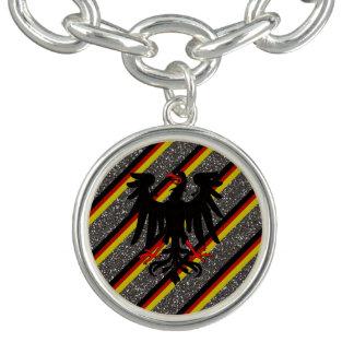 ドイツ人のストライプな旗 チャームブレスレット