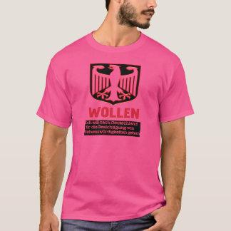 ドイツ人の暗闇のTシャツを訪問する欲求 Tシャツ