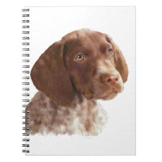 ドイツ人のShorthairの子犬 ノートブック