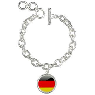ドイツ光沢のある旗 チャームブレスレット