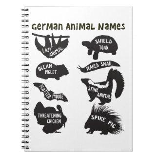 ドイツ動物の名前 ノートブック