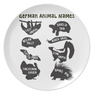 ドイツ動物の名前 プレート