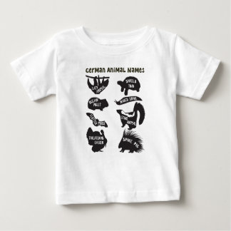 ドイツ動物の名前 ベビーTシャツ