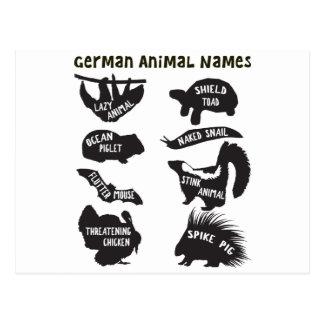 ドイツ動物の名前 ポストカード