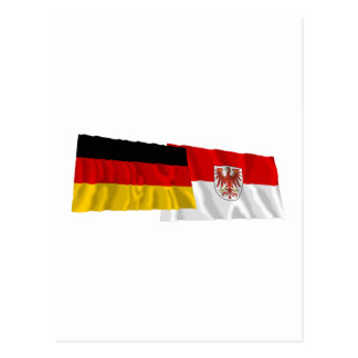 ドイツ及びブランデンブルクの振る旗 ポストカード