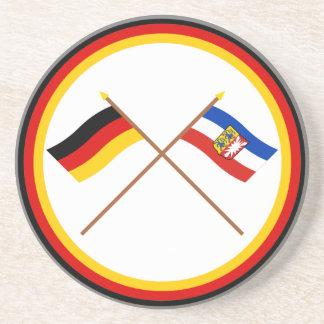 ドイツ及びSchleswigホルスタインによって交差させる旗 コースター