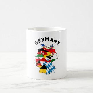 ドイツ国の政治旗の地図の地域の地域 コーヒーマグカップ