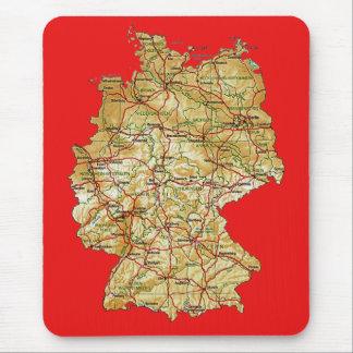 ドイツ地図のマウスパッド マウスパッド