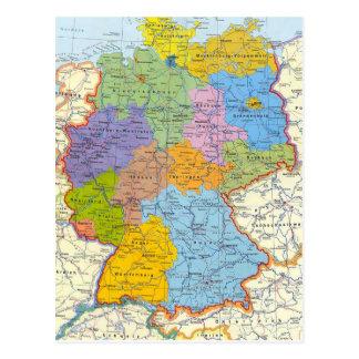 ドイツ地図カード3 ポストカード