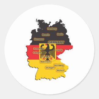 ドイツ地図 ラウンドシール